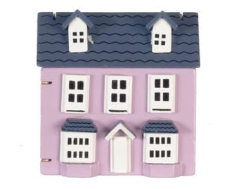 Dollhouse Miniature Purple Dollhouse For Miniature Dolls
