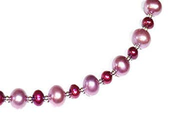 AAA Grade Deep Pink & Red Freshwater Pearl  Necklace