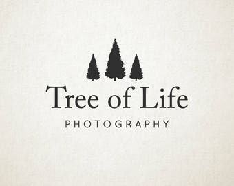 Premade Logo, trees, photography or small business