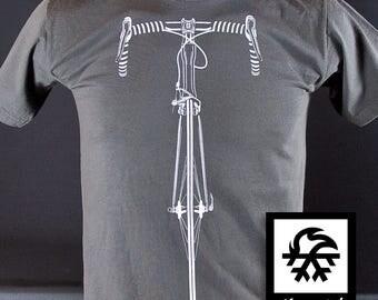T-Shirt race mountain bike MTB bicycle bike illustration by Waveslide