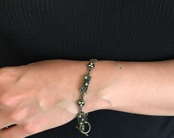 Bronze Stone Metal Bracelet