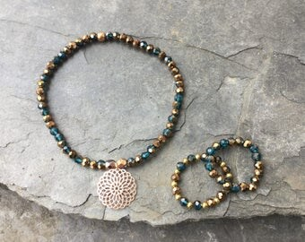 Faceted Bracelet...Bling Bling for Spring