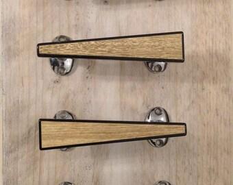 Lucite wooden handles