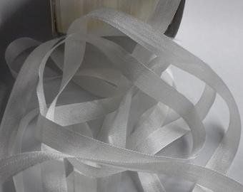 7mm SILK RIBBON  White