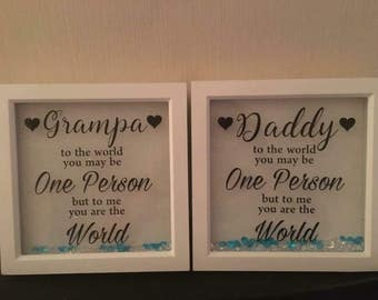 Father frame / personalised gift for dad / personalised grandad gift / personalised father gift / Father's Day gift / birthday gift