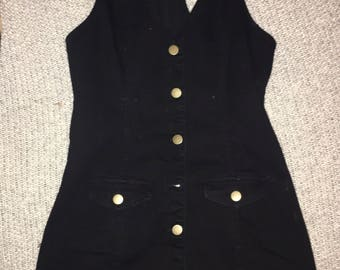 Adorable size s overall dress