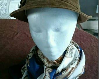 Echtes Leder Brown Suede Hat