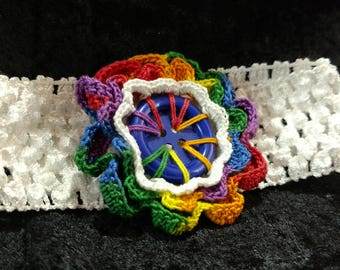 Crocheted Flower on Hairband
