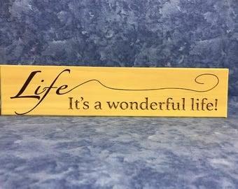 All Seasons Life....It's a Wonderful Life Sign