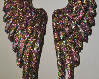 Rainbow wings earrings