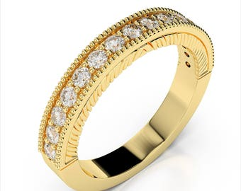 0.34ctw. Diamond Wedding Band 14k Yellow Gold