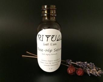 Rose-Hip Anti Aging Serum Face Oil Natural Skin Care Organic Skin Care Moisturizer