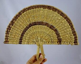 Rattan Woven Fan | Wood Fan | Semi Circle Wall Decor