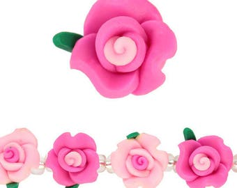 Acrylic Flower Beads, Pink Mix ; Rose flower beads : Great for decoration;free shipping in USA