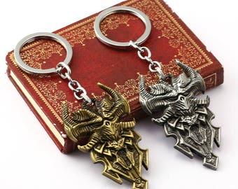 Diablo 3 Emblem metal Keychain Inspired Jewelry