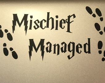 Mischief Managed Decal