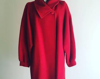 Coat jacket red vintage 80 years-Vintage 80s red coat