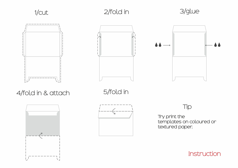 Printable Envelope Template, Photo Design Template, Postcards A7 A2 ...