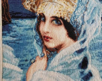High quality needlepoint embroidery gobelin tapestry The queen