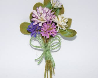 Floral brooch Clover