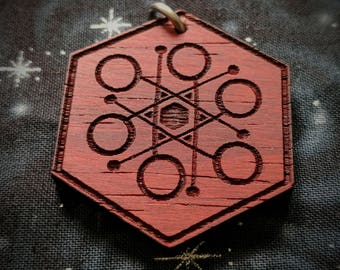 Flow Arts Poi Talisman / Amulet / Sacred Geometry Pendant