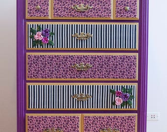Email for shipping quote. See Below. Dresser, Kids Dresser, Kids furniture, Funky Dresser, Funky Furniture, Furniture, Purple Dresser