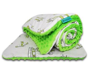 Nursery bedding set - planes, Baby boy bedding, Minky baby bedding, Planes bedding