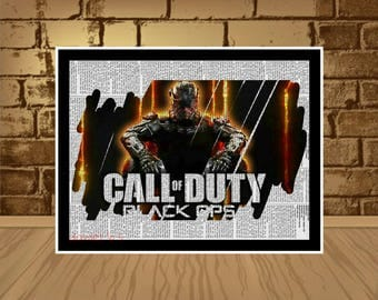 Call of duty black ops Poster wall print,Call of duty print,Call of duty print,game poster,game print,art,art poster,call of duty birthday
