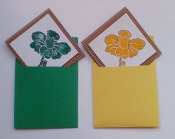 Single card 'daffodil' 1 yellow or 1 green
