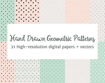 Hand Drawn Geometric Patterns Vector