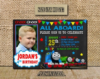 Thomas The Train Invitation / Thomas The Train Birthday / Thomas The Train Birthday Invitation / Thomas The Train Invite / Thomas The Train