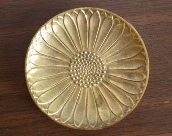 Small Brass Floral Dish