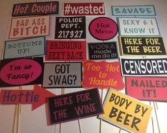 Photo Booth Adult Props