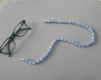 Eye glass chain . Rainbow Loom Band Eyeglass Chain
