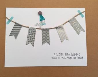 "Handmade ""Little Bird"" Birthday Card"