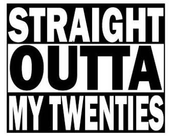 Straight Outta... Party Sign or Centerpiece Insert, Customizeable, Straight Outta Compton