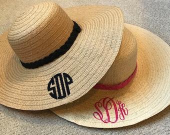 Monogrammed, Floppy Sun Hat