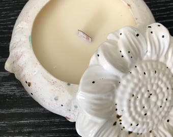 Soy Wax Wood Wick Flower Candle