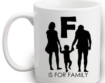 F Is For Family Mug | Gift | Cute | Family