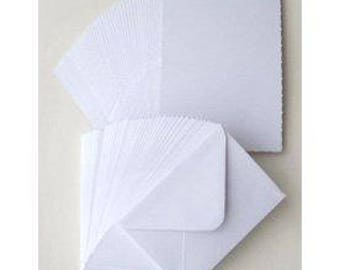 10 x White Card Blanks & Envelopes C6 - Card Making Craft Stationery