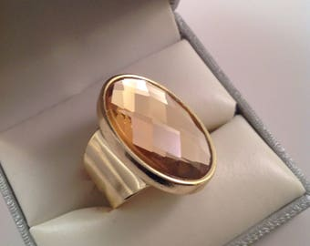 Gold ring ajustable