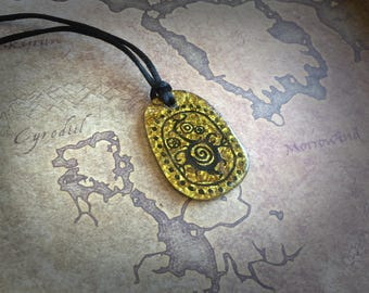Sale! Telvanni Amulet inspired in The Elder Scrolls Morrowind handmade pendant with recycled CD's, Geek Gift, Skyrim cosplay Necklace