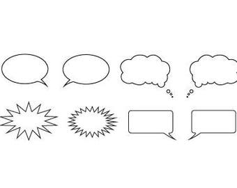 Word balloons SVG bundle