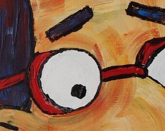 Milhouse Van Houten Oil Painting