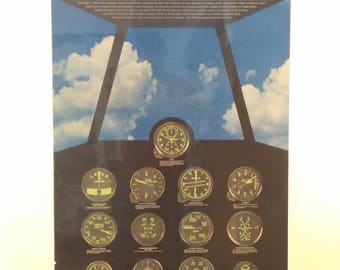 Vintage Airplane Infographic poster
