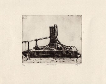 Untitled art on paper print etching