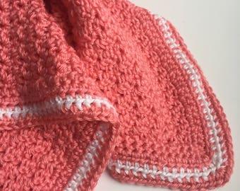Pink Afghan or Lap Blanket