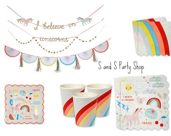 Rainbows & Unicorns , Birthday Party, Retro , Party Tableware,Garlands, Summer Parties