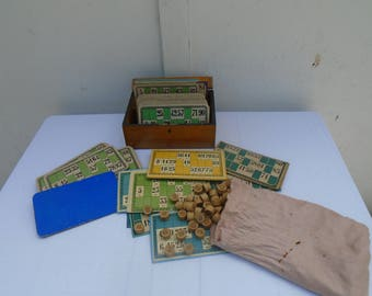 French vintage Lotto game