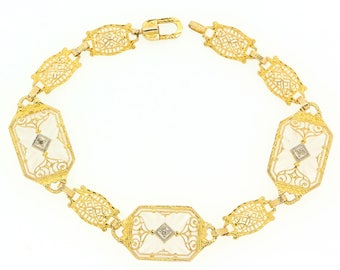 Antique Rock Chrystal Gold Bracelet